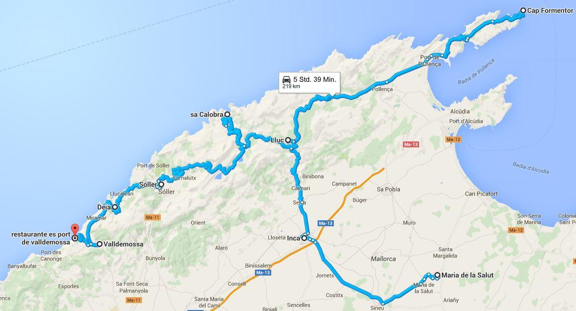 Mallorca - Motorradtour